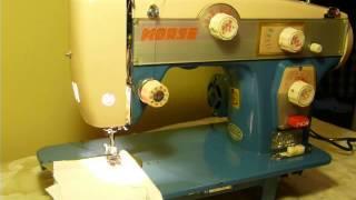NIFTYTHRIFTYGIRL: Vintage Morse model B.H. zigzag sewing machine