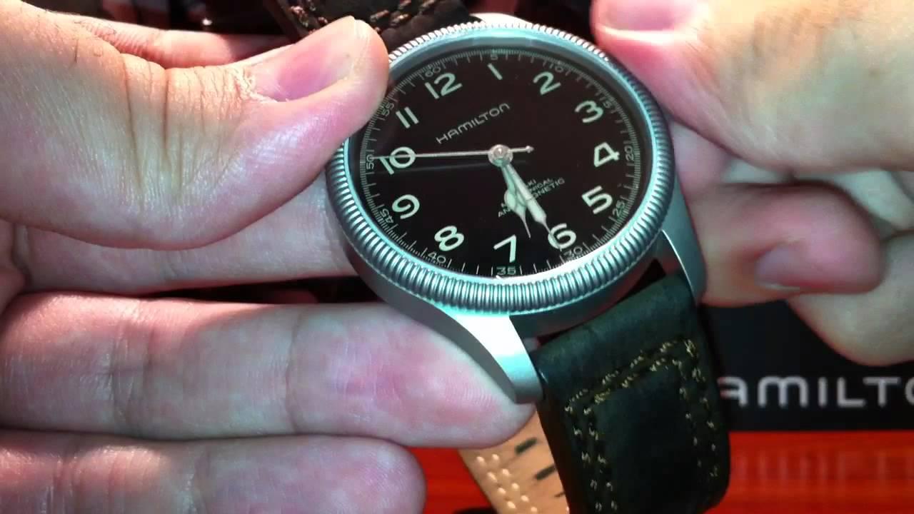 Winding A Hamilton Khaki Pioneer Mechanical Eta 2801 2