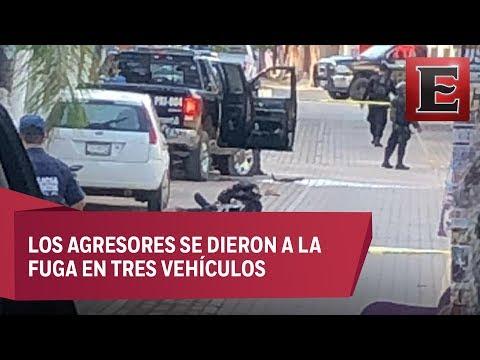 Seis polic�as muertos en La Huerta, Jalisco, por emboscada