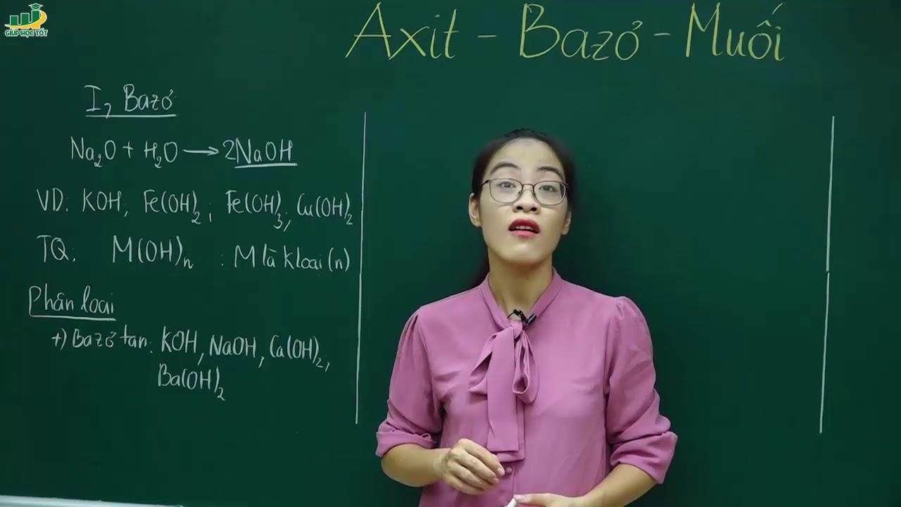 Hóa Học Lớp 8 – Bài giảng Axit – Bazo – Muối hóa 8 | Cô Nguyễn Thị Kiều Anh