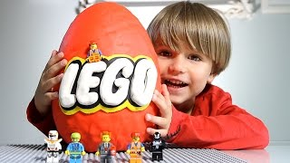 Giant Lego Surprise Egg made of Play-Doh