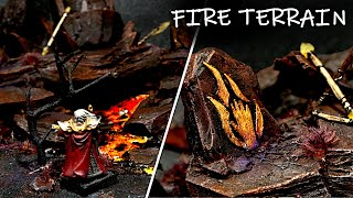 Making a Fire Diorama for D&D | The Elemental Plane of Fire