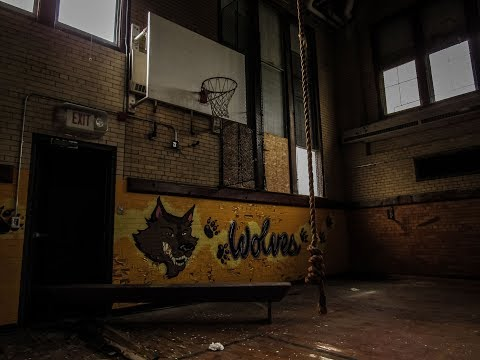 Abandoned Whittier Middle School. Flint, MI