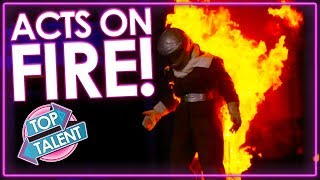 MOST DANGEROUS! When Acts Set Themselves on FIRE! | Top Talent