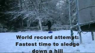 Fastest Time To Sledge Down A Hill