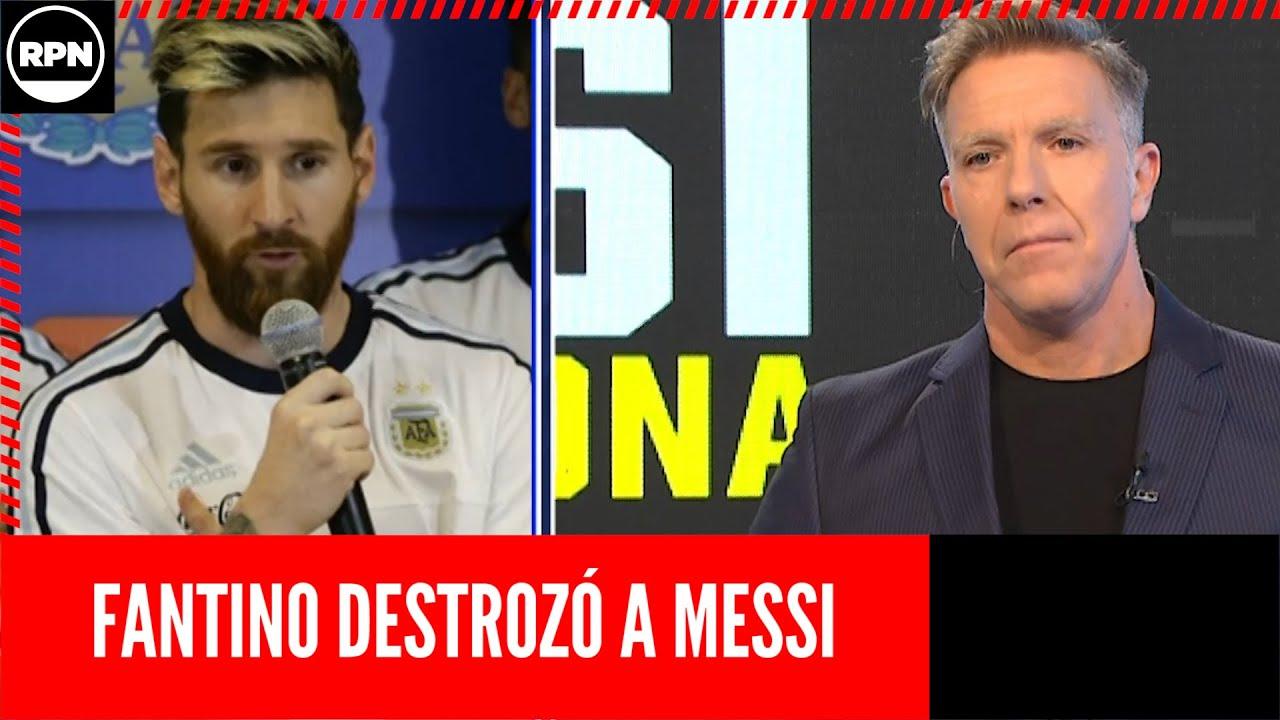 ¡Polémica editorial de Fantino sobre Messi!