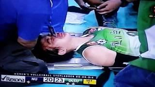 ara galang injured dlsu vs nu s77
