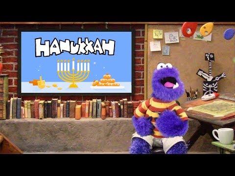HANUKKAH • DREIDEL SONG • MAKING A DREIDEL • Paint BY Monster