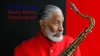 St Thomas, Sonny Rollins Solo. CD: Saxophone Colossus. Transcribed by Carles Margarit