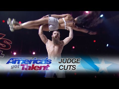 LEAK: Billy & Emily England Push Boundaries In Scary Skate Act - America's Got Talent 2017 -Reaction