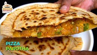 పిజ్జా పరాటా ఇలా గోధుమ పిండితో చేసి పిల్లలకి పెట్టండి, ఇష్టంగా తింటారు | Pizza Paratha in Telugu