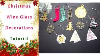 How to make Christmas Wine Glass Decorations   :  Tutorial