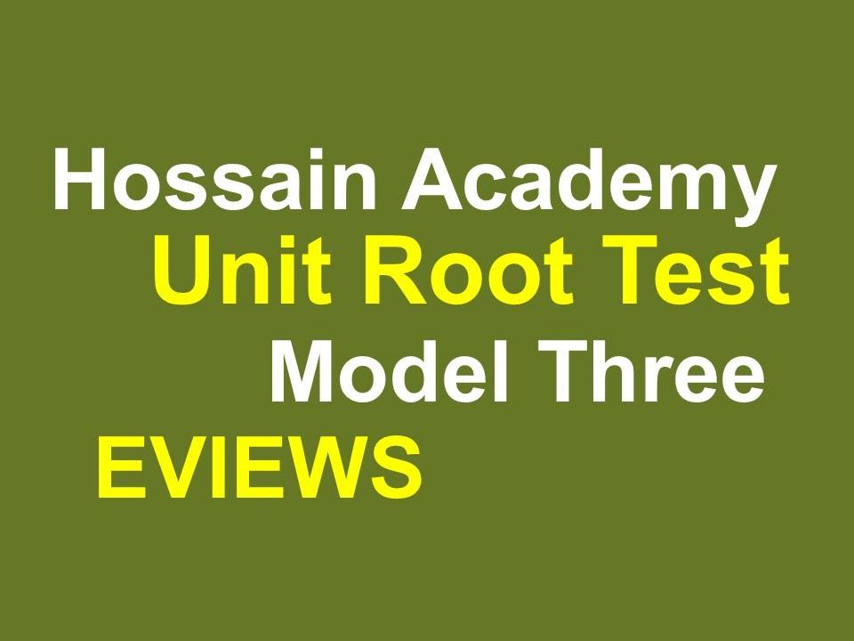 Unit root test  Model Three  EVIEWS