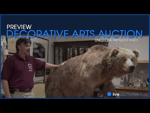 "Uniques and Antiques ""Decorative Arts Auction"" Preview on Tuesday, September 16th at 12 noon"