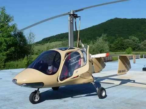Autogyro flight over river Hron region (Slovakia)
