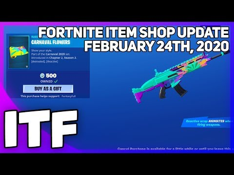 Fortnite Item Shop *NEW* CARNAVAL FLOWERS WRAP! [February 24th, 2020] (Fortnite Battle Royale)