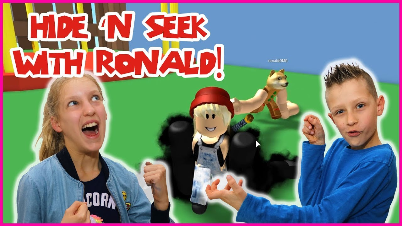 Karina And Ronald Roblox Hide And Seek Playing Hide And Seek With Ronald And Noodle Arms Youtube