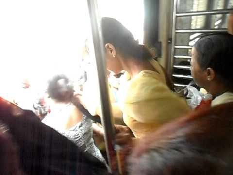 Women's Compartment on Mumbai Train