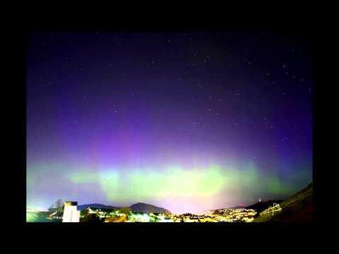Timelapse - Aurora over Bergen, Norway April 20 - 2014