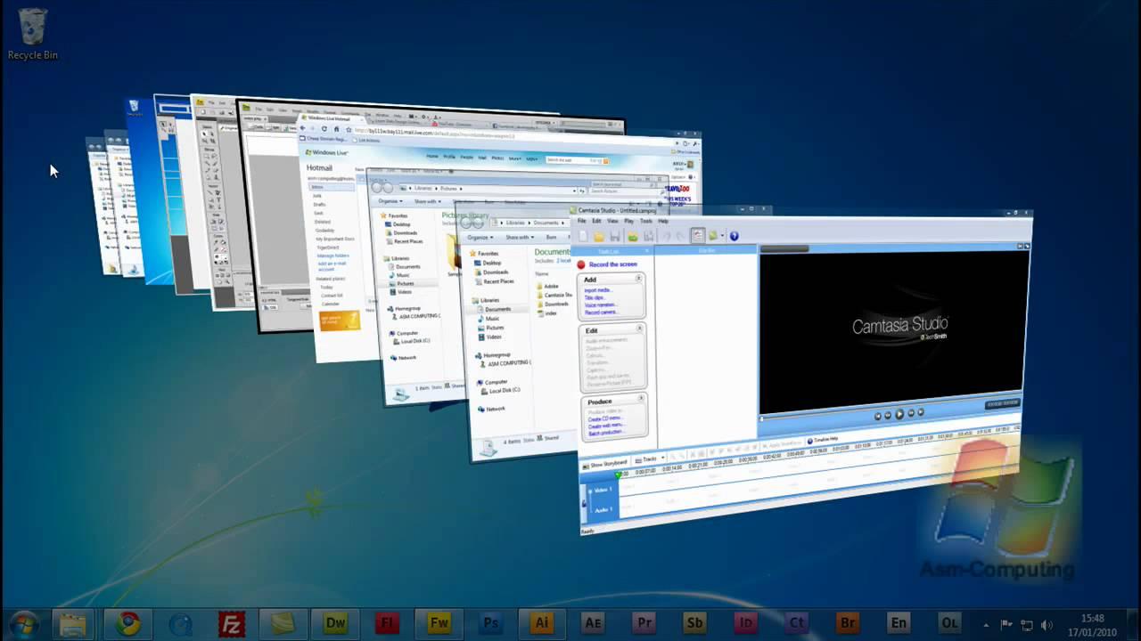 Windows 7 aero 3d trick youtube for Fenetre 3d windows 7
