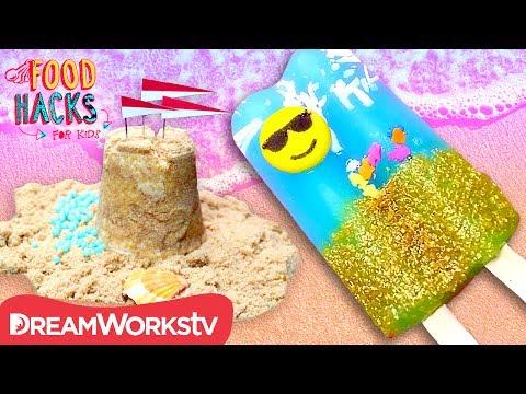 Edible Sandcastle + More Beach Food Hacks! | FOOD HACKS FOR KIDS