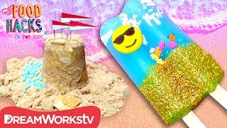 Edible Sandcastle + More Beach Food Hacks! | FOOD HACKS FOR KIDS