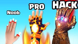 EVOLVING in NOOB vs PRO vs HACKER HAND in Ice Man 3D (MAX LEVEL)