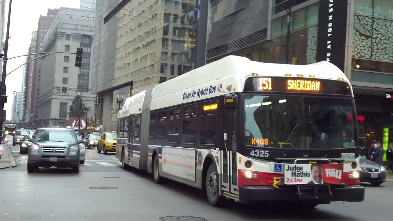 CTA Transit Bus: 2012 New Flyer Industries DE60LFR Route 151 #4325 ...