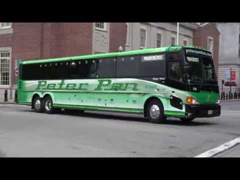PETER PAN BUS MCI D4500 7761 AND RIPTA 1304 IN PROVIDENCE RODE ISLAND