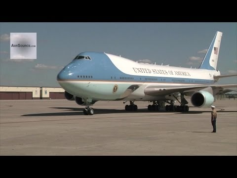 Air Force One - President Obama Lands at Whiteman Air Force Base