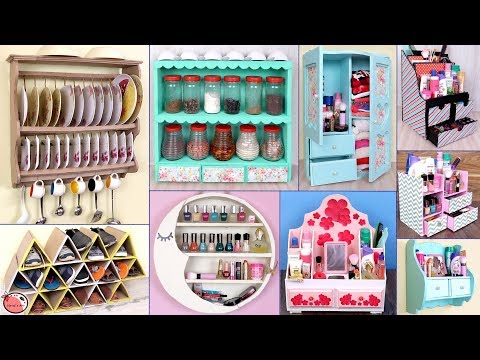 UseFull... 10 Ideas !!! DIY Room Organizer || DIY Projects