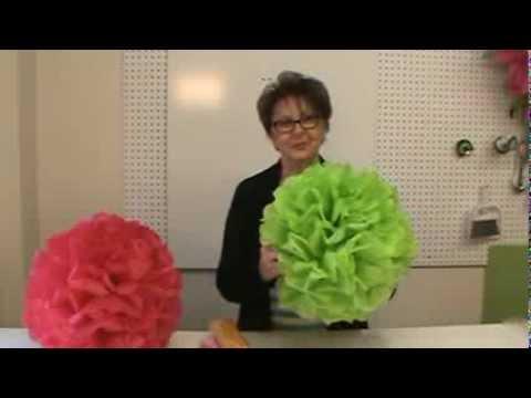 Tissue Paper Pom Poms at Trendy Tree
