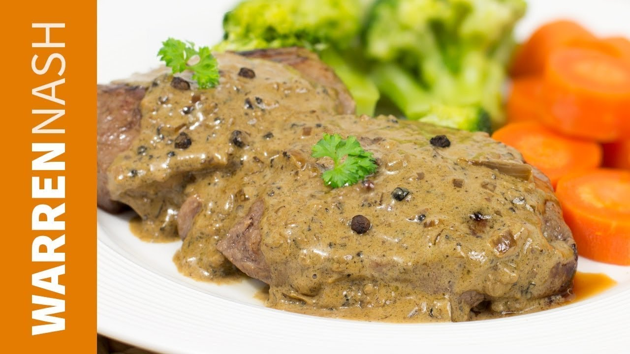 How to make a simple pepper sauce for steak