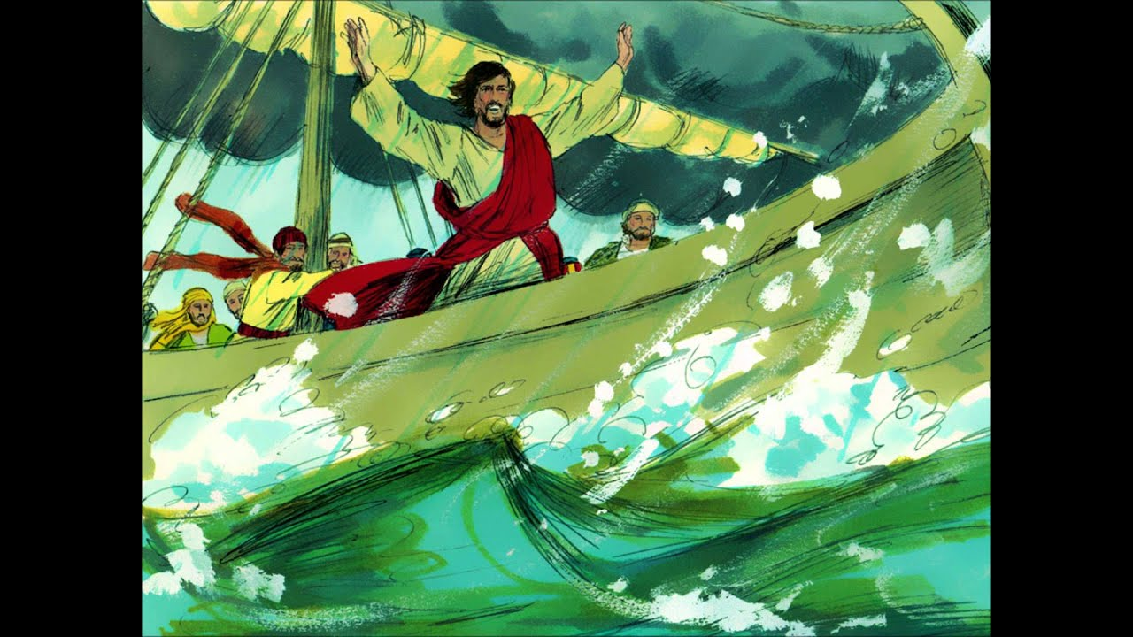 jesus calms the storm youtube