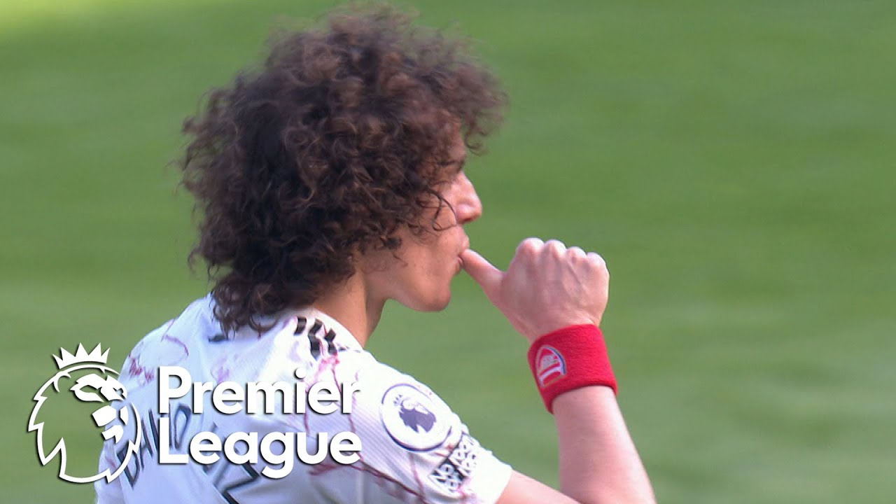 David Luiz restores deadlock for Arsenal against Leicester City | Premier League | NBC Sports