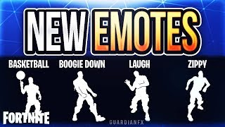 Fortnite - *NEW* LEAKED UPCOMING EMOTES! [Basketball, Boogie Down, Laugh It Up and Rambunctious]