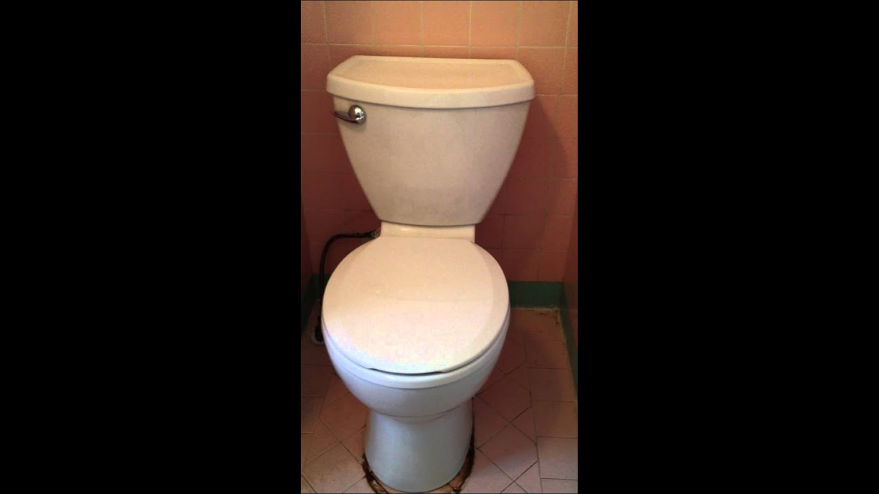 American Standard Cadet 3 Toilet Install And Flush Youtube
