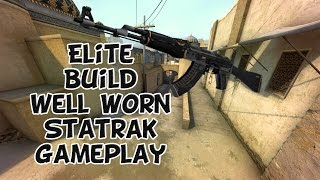 CSGO - AK-47 Elite Build Statrak Well Worn Gameplay