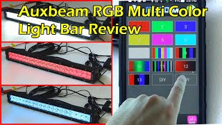 AUXBEAM V-SERIES Bluetooth 120W Multi-Color RGB Light Bar(Auxbeam V Series LED Light Bar http://amzn.to/2mgJ5c0 Description: ------------------ Power: 120W---(12000lm) Number of Chips: 40pcs*3W intense CREE LED ..., 2016-10-10T05:05:07.000Z)
