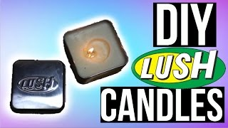 DIY Christmas Lush Candles! Christmas gifts 2015