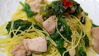 【沢田流】鶏肉とほうれん草の白ワインソースパスタ