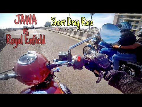 RE Thunderbird 350  VS JAWA Classic 300 |  Short Drag Race