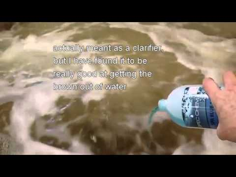 Fix Brown Water in Hot Tub - YouTube