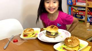 DIY 親子樂 自制美式漢堡