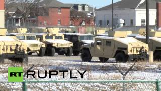 USA: Calm before the storm? National Guard Humvees in St. Louis