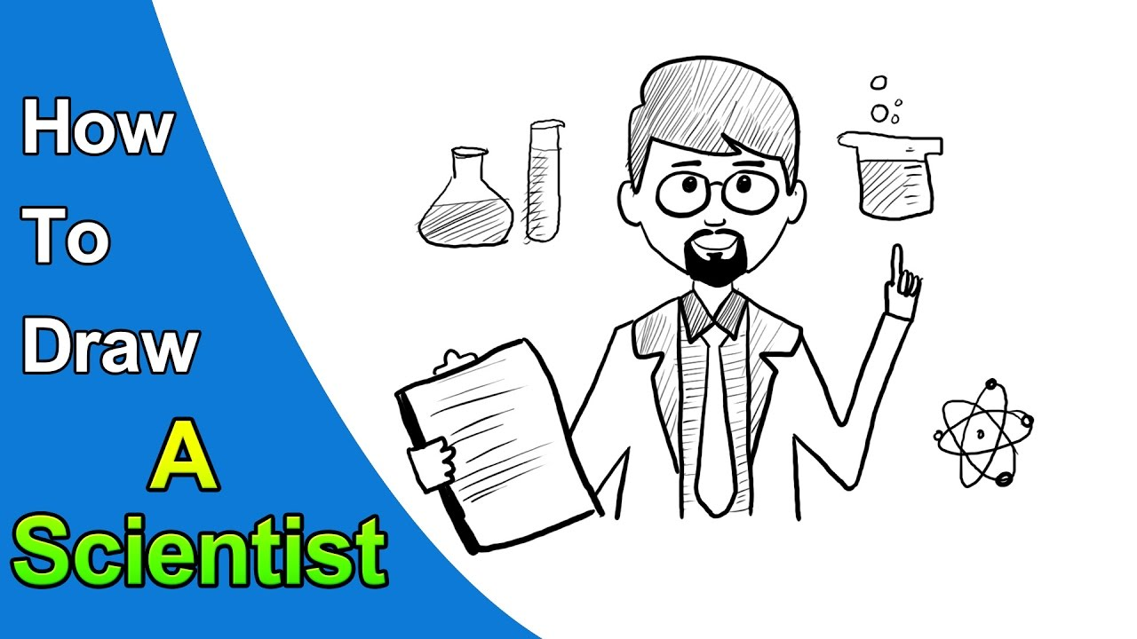How to Draw a Scientist For Kids - YouTube