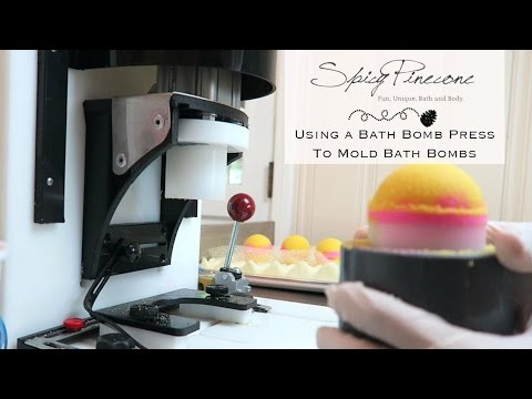 How to Use a Bath Bomb Press to Mold Bath Bombs by Spicy Pinecone