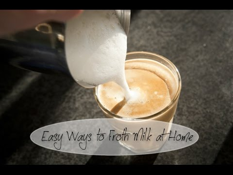 How to make frothy coffee without milk