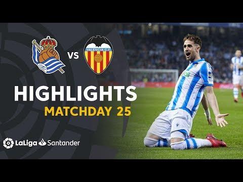 Highlights Real Sociedad Vs Valencia CF (3-0)