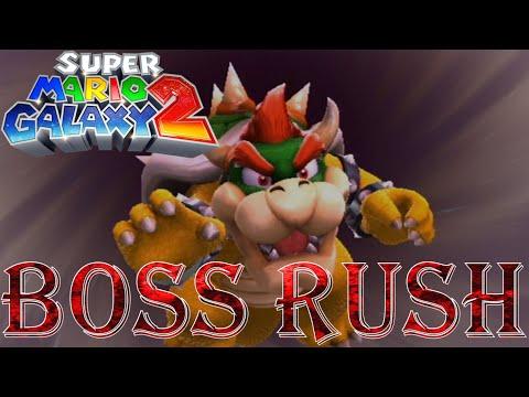 Super Mario Galaxy 2 - Boss Rush (All Boss Fights, No Damage)